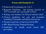 norms and standards 1