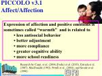 piccolo v3 1 affect affection