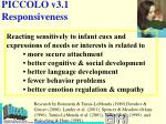piccolo v3 1 responsiveness