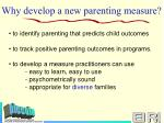 why develop a new parenting measure