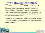why measure parenting