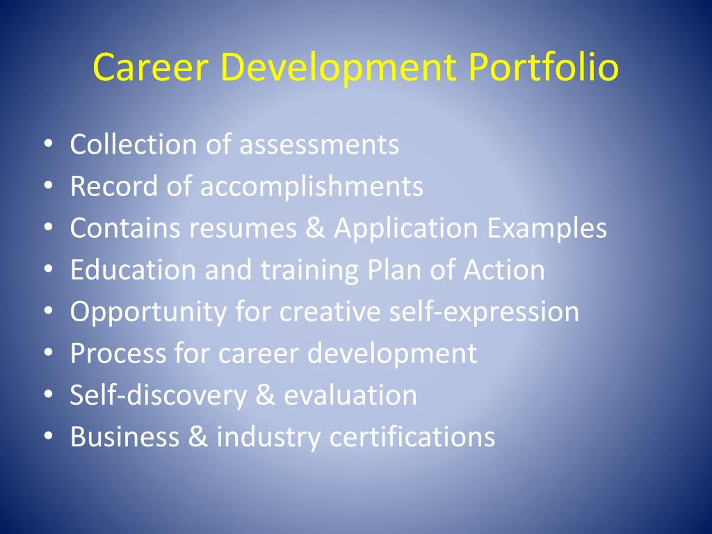 Career Development Portfolio