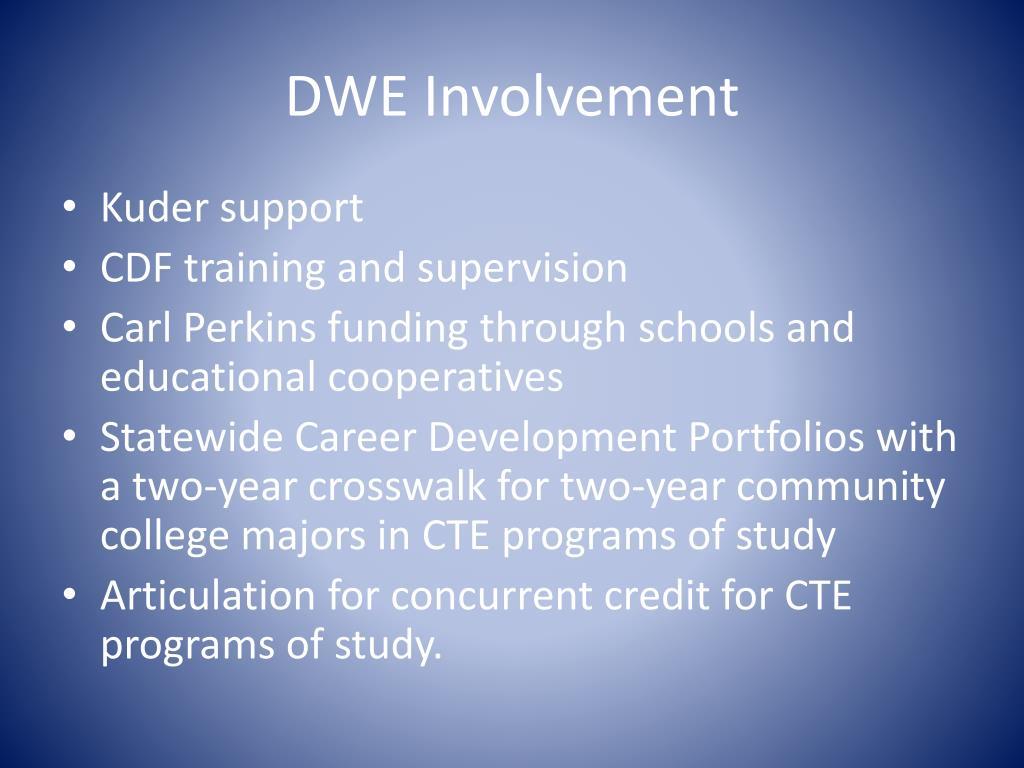 DWE Involvement