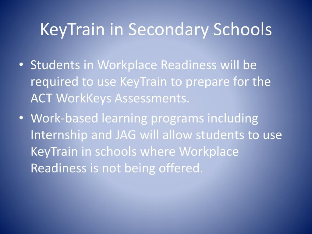 KeyTrain in Secondary Schools