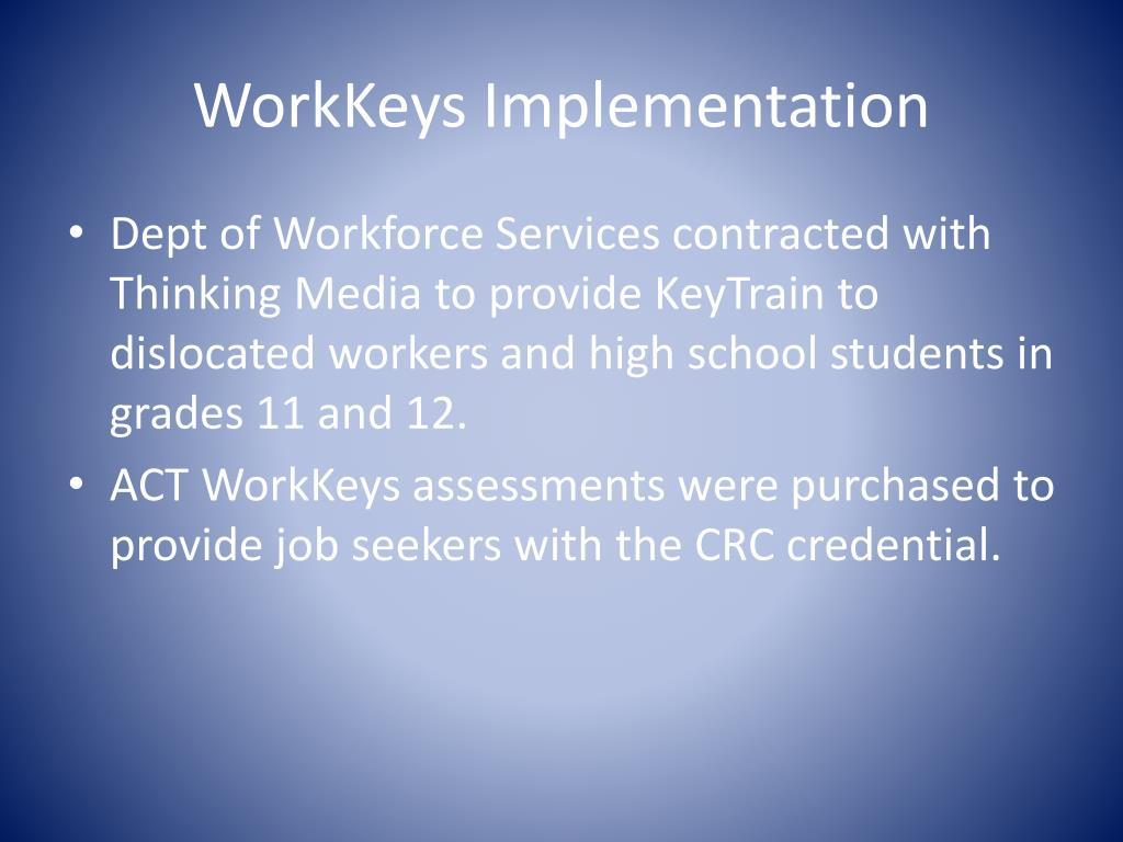 WorkKeys Implementation