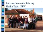 introduction to the primary health team nsw