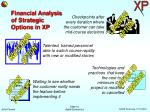 financial analysis of strategic options in xp