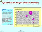 typical financial analysis option to abandon