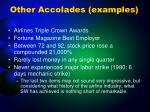 other accolades examples