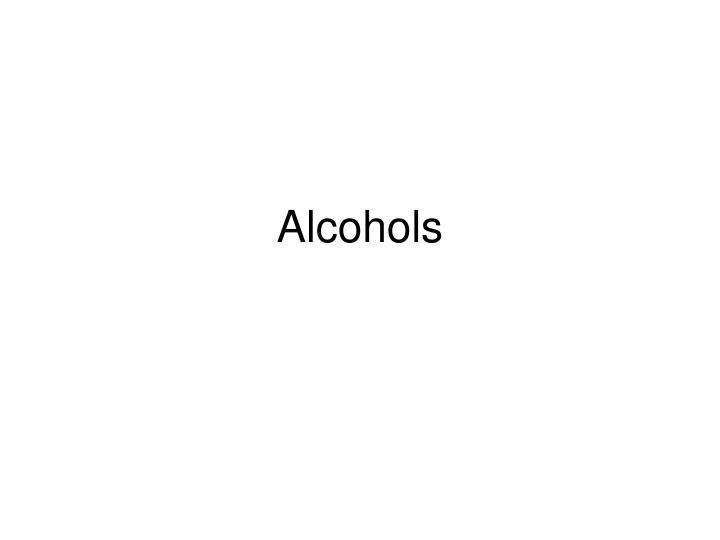 alcohols n.