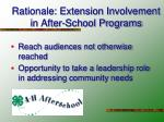 rationale extension involvement in after school programs