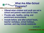 what are after school programs