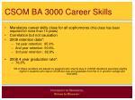 csom ba 3000 career skills