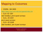 mapping to outcomes