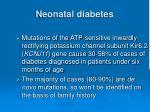 neonatal diabetes
