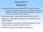 norma 67 6 1 requisitos
