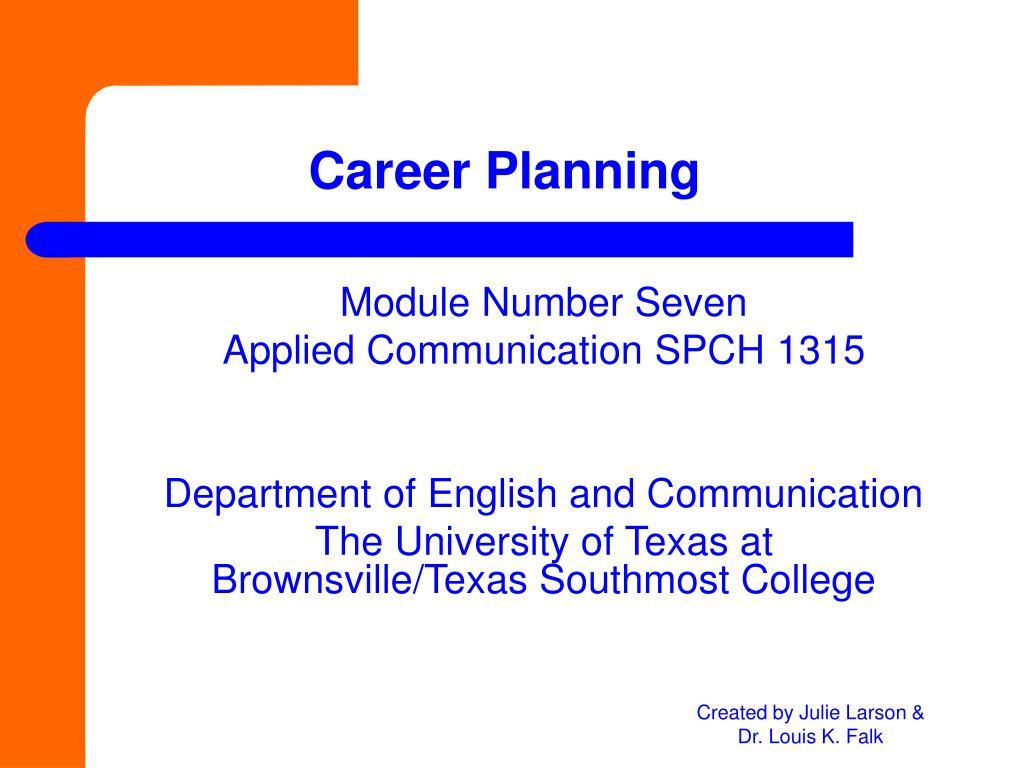career planning l.
