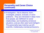 personality and career choice continued9
