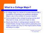 what is a college major