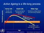 active ageing is a life long process