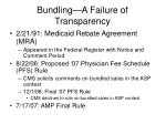 bundling a failure of transparency