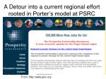 a detour into a current regional effort rooted in porter s model at psrc