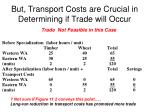 but transport costs are crucial in determining if trade will occur1