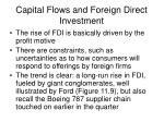 capital flows and foreign direct investment