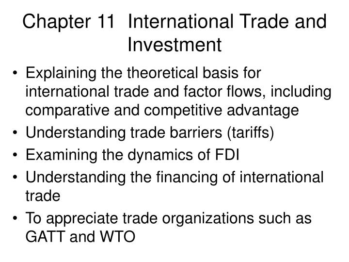 chapter 11 international trade and investment n.