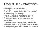 effects of fdi on nations regions