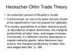 heckscher ohlin trade theory