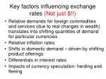 key factors influencing exchange rates not just