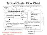 typical cluster flow chart
