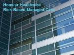 hoosier healthwise risk based managed care