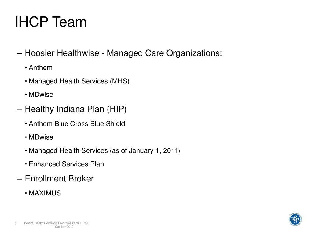 PPT - Indiana Health Coverage Programs Family Tree