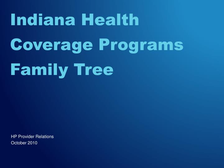 indiana health coverage programs family tree n.