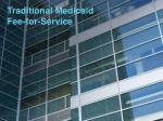 traditional medicaid fee for service