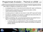 programmatic evolution thermal on ldcm cont1