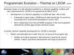 programmatic evolution thermal on ldcm cont2