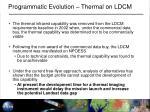 programmatic evolution thermal on ldcm