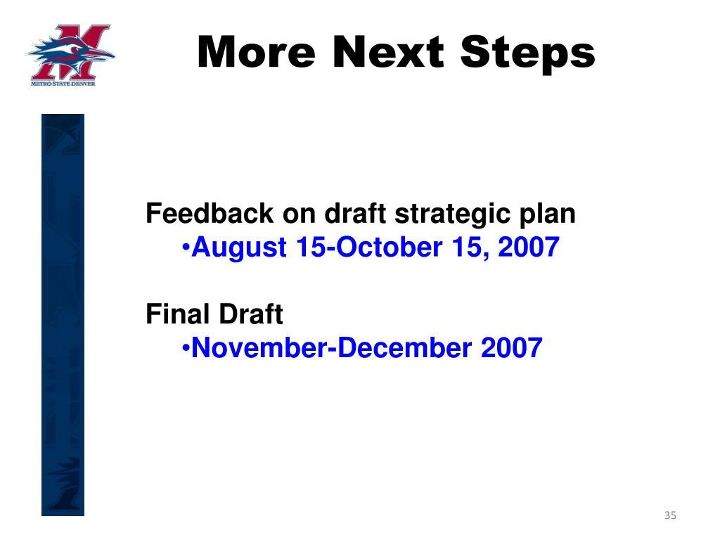 More Next Steps