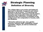 strategic planning definition of diversity