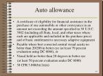 auto allowance