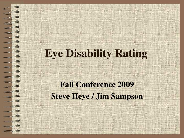 eye disability rating n.