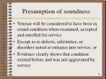 presumption of soundness