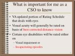 what is important for me as a cso to know