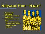 hollywood films maybe