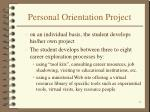 personal orientation project