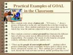 practical examples of goal in the classroom