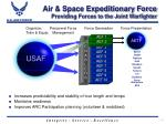 air space expeditionary force providing forces to the joint warfighter